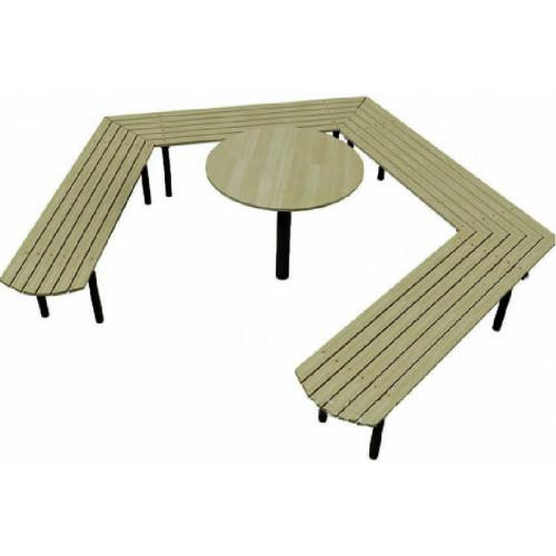 Лавка зі столиком Л 005